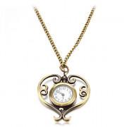 Персик женские сердца стиле сплава год сбора винограда кварц ожерелье Аналоговые часы