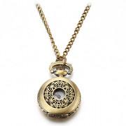 Полые женщин типа обложка сплава год сбора винограда кварц ожерелье Аналоговые часы