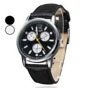 PU Женская Водонепроницаемый Стиль аналоговые кварцевые наручные часы (разных цветов)