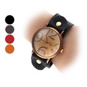 PU Женские аналоговые кварцевые наручные часы (разных цветов)