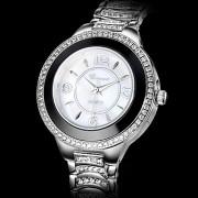 Серебряные женские Сталь Diamond Dial Аналоговые кварцевые наручные часы (разных цветов)
