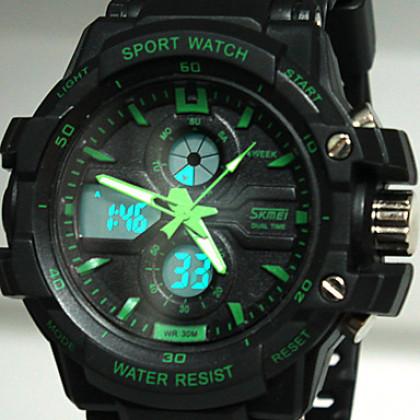 Спортивные мужские мульти-функциональные часы на ремешке из каучука. Цвета в ассортименте