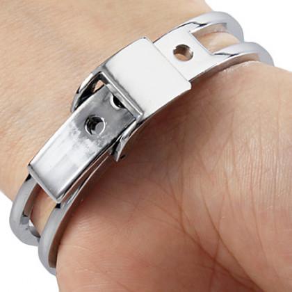 Сталь Женские аналоговые кварцевые часы браслет (серебро)