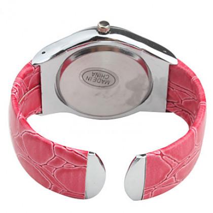 стильный браслет группы наручные часы с кристаллами - розовый
