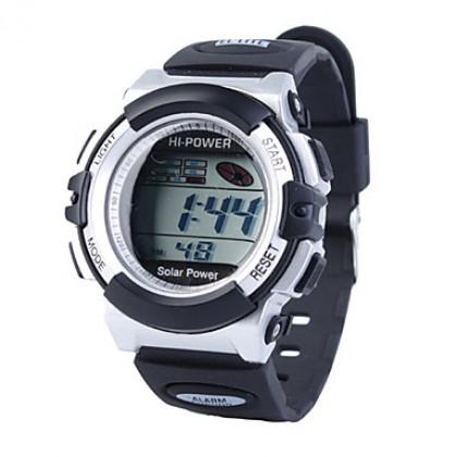 унисекс солнечной энергии многофункциональный цифровой спортивный наручные часы (разных цветов)
