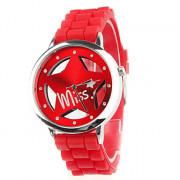 выдалбливают звезда шаблон проектирования унисекс кварца наручные часы с кристально украшение - красный