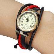 Vintage эллиптические женские набора группы плетеные браслет Часы (разных цветов)