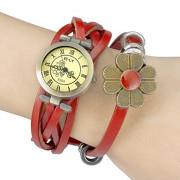 Vintage Style Женские набора PU Группа Кварцевые аналоговые наручные часы (ассорти