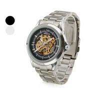 вскользь стиле сплава аналогового механические наручные часы (серебро)