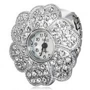 Wintersweet Shaped Женские сплав Серебряный Кварцевые часы Кольцо