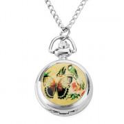 женщин repristination сплава аналоговые кварцевые часы ожерелье (серебро)