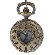 Женщин сердце обложка сплава год сбора винограда кварцевые аналоговые карманные часы с цепочкой