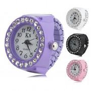 женщин сплава аналоговые часы, кольцо с бриллиантом (разные цвета)