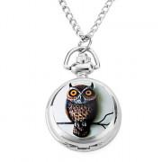 женщин сплава аналоговые кварцевые часы ожерелье ручной работы кошки (серебро)