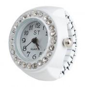 женщин сплава аналоговый кольцо кварцевые часы (белый)