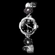 Женщин цветка Pattern стали аналоговые кварцевые часы браслет (разных цветов)