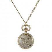 Женская Бабочка Обложка сплава год сбора винограда кварцевые аналоговые Ожерелье Watch