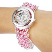 Женская Diamante кольцо Наберите Овальный циферблат Кварцевые Аналоговый браслет смотреть (разных цветов)