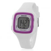 Женская Многофункциональный цифровой площадь Дело силиконовой лентой наручные часы (разных цветов)