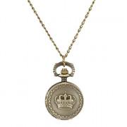 Женская полога сплава год сбора винограда кварцевые аналоговые Ожерелье Watch