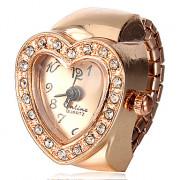 Женские Heart Shaped кварца сплава золота кольцо смотреть