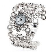 Женские кварцевые часы-браслет (серебристые)