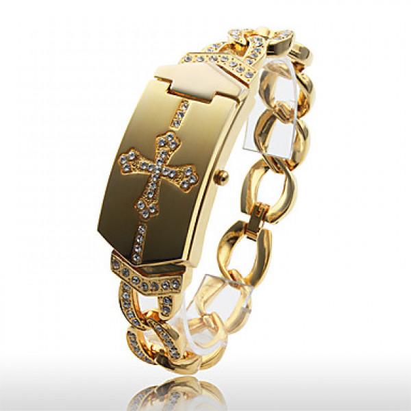 EUR $ 11.03 - Женские кварцевые часы-браслет (золотистые