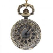Женские полые отверстия крышки сплава год сбора винограда кварц ожерелье Аналоговые часы