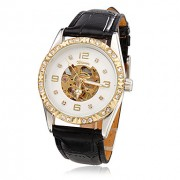 Женские повседневные механические наручные часы на ремешке из искусственной кожи. Цвета в ассортименте.