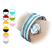 Женские сплава аналоговые кварцевые часы браслет (разных цветов)