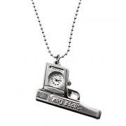Женские сплава аналоговые кварцевые часы ожерелье (серебро)