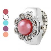 Женские цветы кругом сплава аналогового кольцо Кварцевые часы (разных цветов)