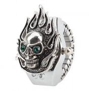 женский скелет стиле сплава аналоговые кварцевые часы кольцо (серебро)